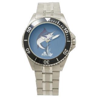 Aguja azul atlántica relojes de pulsera