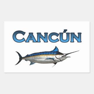 Aguja azul de Cancun Pegatina Rectangular