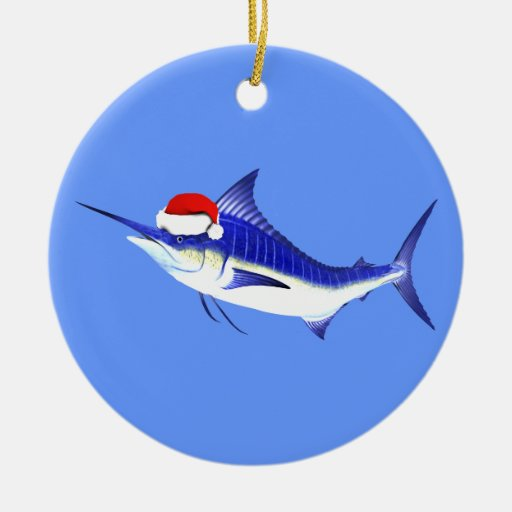 Aguja azul Papá Noel Ornamentos De Reyes Magos