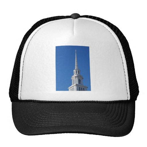 Aguja blanca de la iglesia gorras de camionero