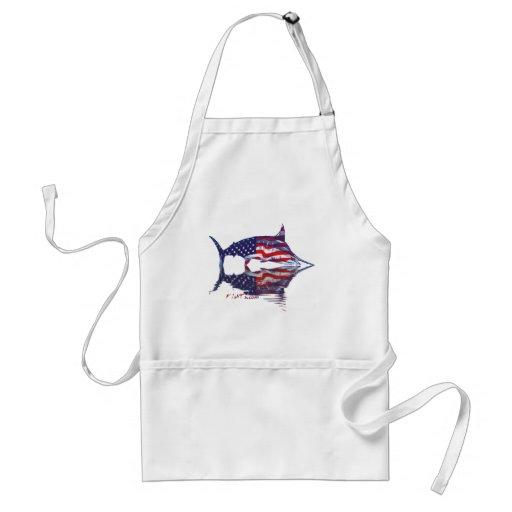 Aguja de AmericanFlag por FishTs.com Delantales
