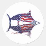 Aguja de AmericanFlag por FishTs.com Pegatinas