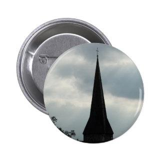 Aguja de la iglesia en Irlanda Pin Redondo De 2 Pulgadas