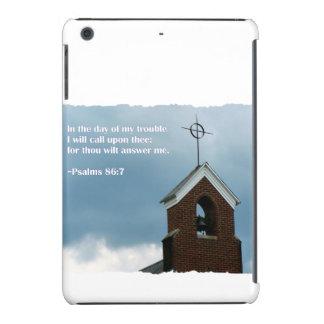 Aguja de la iglesia en un 86:7 de los salmos del funda para iPad mini