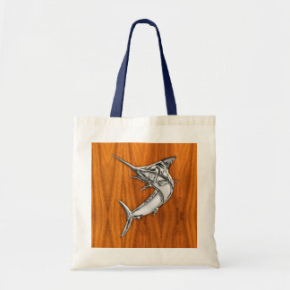 Aguja del cromo en la madera de la teca bolsa lienzo