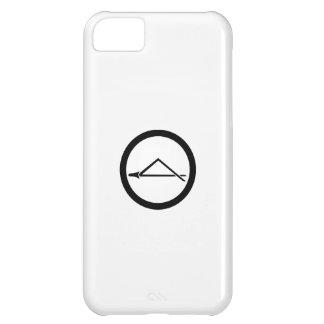 Aguja doblada del pino en círculo funda para iPhone 5C