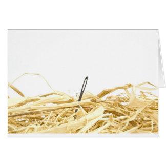 aguja en un haystack tarjeta de felicitación
