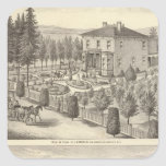 Aguja, residencias de Finigan, granjas Pegatina Cuadrada