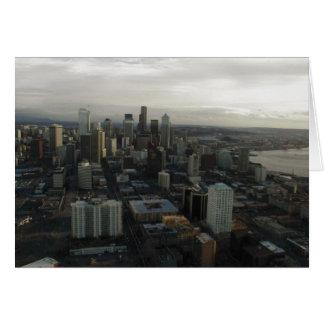Aguja Seattle del espacio del edificio Felicitaciones