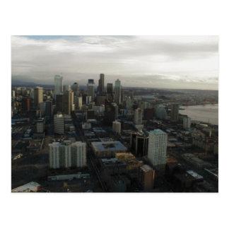 Aguja Seattle del espacio del edificio Tarjeta Postal