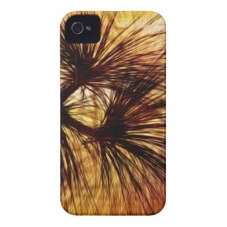 Agujas abstractas del pino iPhone 4 carcasa