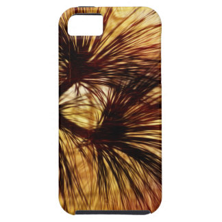 Agujas abstractas del pino iPhone 5 carcasas