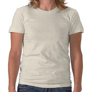 Agujas B&W del conejito y de la cruz Camiseta