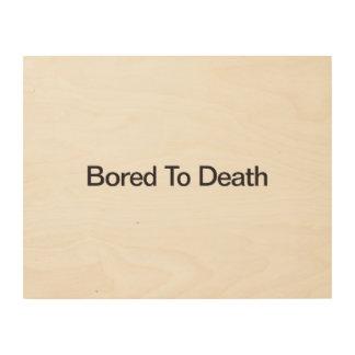 Agujereado a Death.ai Cuadros De Madera