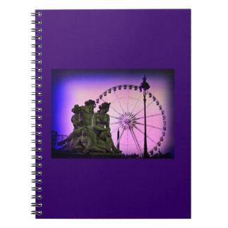 Agujerito la plaza de la Concordia del color Cuaderno