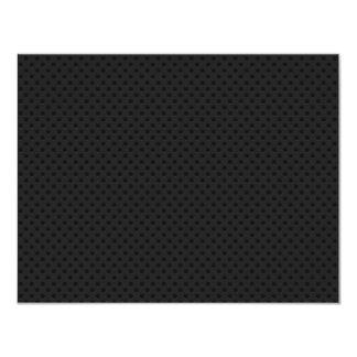 """Agujerito micro negro invitación 4.25"""" x 5.5"""""""