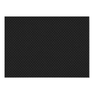 """Agujerito micro negro invitación 4.5"""" x 6.25"""""""
