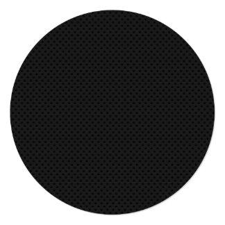 """Agujerito micro negro invitación 5.25"""" x 5.25"""""""
