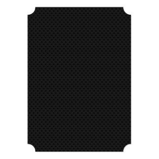 """Agujerito micro negro invitación 5"""" x 7"""""""