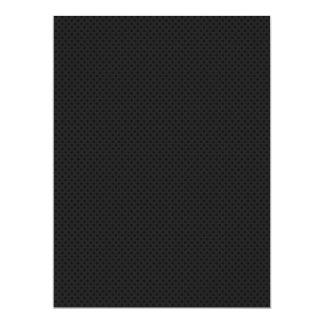 """Agujerito micro negro invitación 6.5"""" x 8.75"""""""