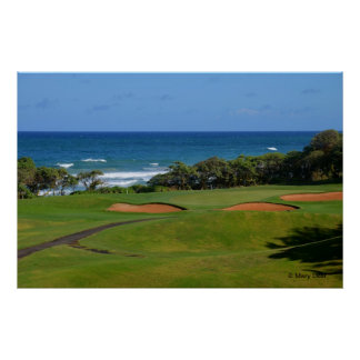 Agujero 17 del golf de Wailua Póster