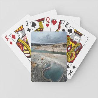 Agujero azul cartas de póquer