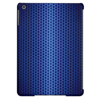 Agujero azul del metal del acero inoxidable funda para iPad air