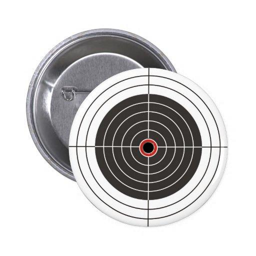 Agujero de bala en la blanco - tiroteo de la diana pin redondo de 2 pulgadas