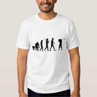 Agujero del camisetas de los jugadores de golf en poleras