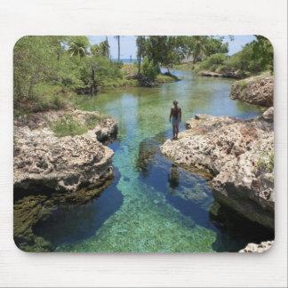 Agujero del cocodrilo, ciudad negra del río, Jamai Alfombrillas De Raton