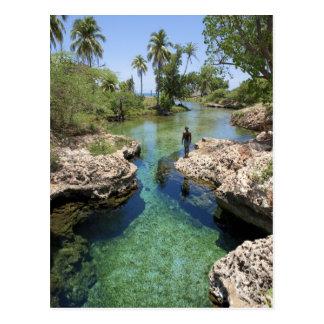Agujero del cocodrilo, ciudad negra del río, tarjeta postal
