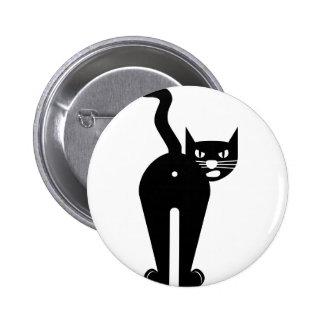 Agujero del extremo del gato negro chapa redonda 5 cm