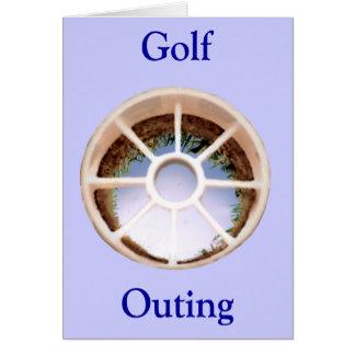Agujero del golf tarjeta de felicitación