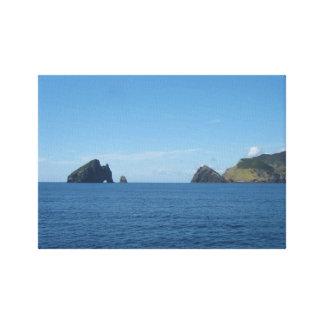 Agujero en la bahía de la roca de las islas Nueva  Impresiones En Lona