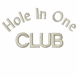 Agujero en las derechas de jactancia de un golf polo