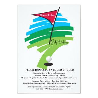 Agujero en una invitación del golf