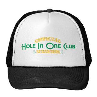 Agujero oficial en un miembro de club gorras