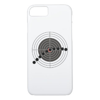 Agujeros de bala de la ametralladora sobre blanco funda iPhone 7