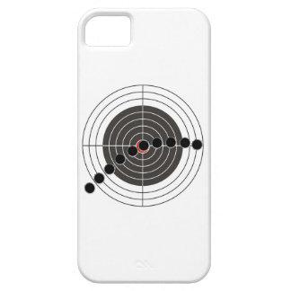 Agujeros de bala de la ametralladora sobre blanco funda para iPhone SE/5/5s