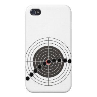 Agujeros de bala de la ametralladora sobre blanco iPhone 4/4S carcasa