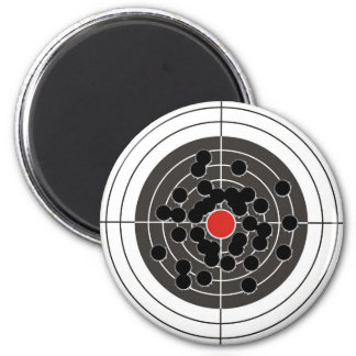¡Agujeros de bala en blanco - pero no la diana Imán Para Frigorifico