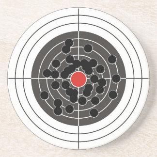 ¡Agujeros de bala en blanco - pero no la diana Posavasos Personalizados