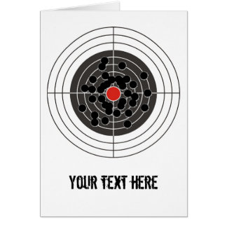 ¡Agujeros de bala en blanco - pero no la diana! Tarjetón