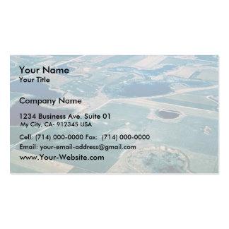 Agujeros de la pradera, humedal tarjetas de visita