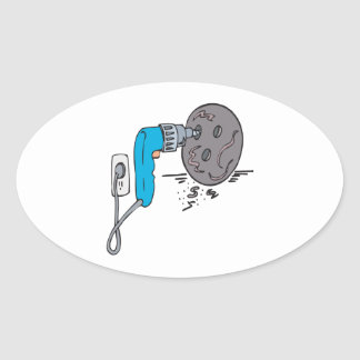 Agujeros de perforación colcomanias de óval personalizadas