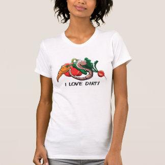 Agusanado del gusano amo la suciedad Camisa