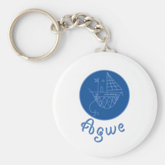 Agwe Veve Basic Round Button Keychain