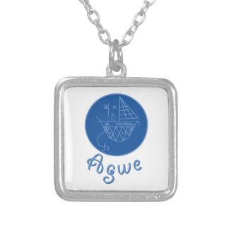 Agwe Veve Square Pendant Necklace