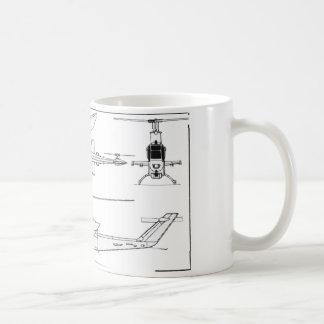 AH1 Blueprint Classic White Coffee Mug