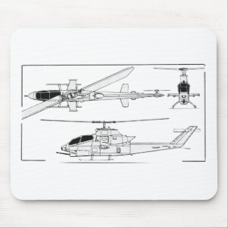 AH1 Blueprint Mouse Pad